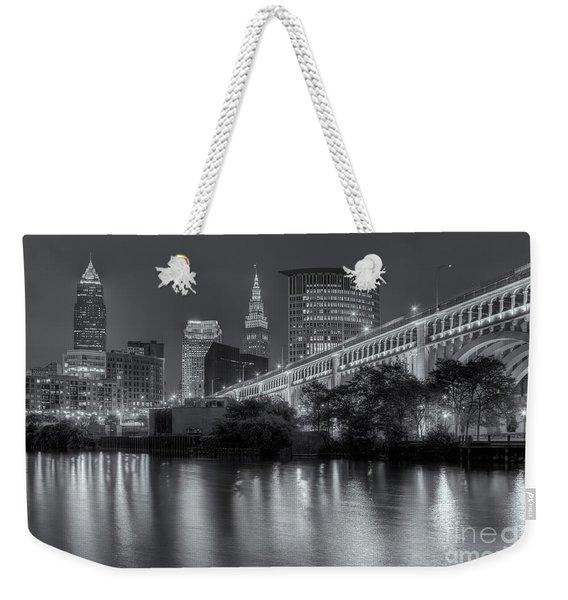 Cleveland Night Skyline IIi Weekender Tote Bag