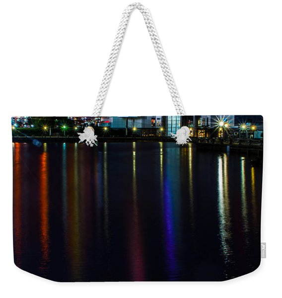 Cleveland Nightly Reflections Weekender Tote Bag