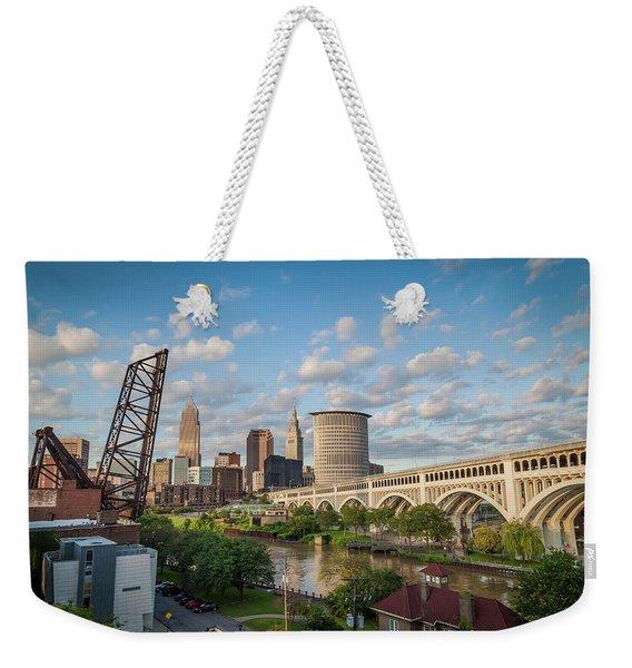 Cleveland Skyline Vista Weekender Tote Bag