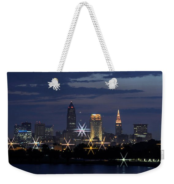 Cleveland Starbursts Weekender Tote Bag