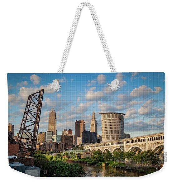 Cleveland Summer Skyline  Weekender Tote Bag
