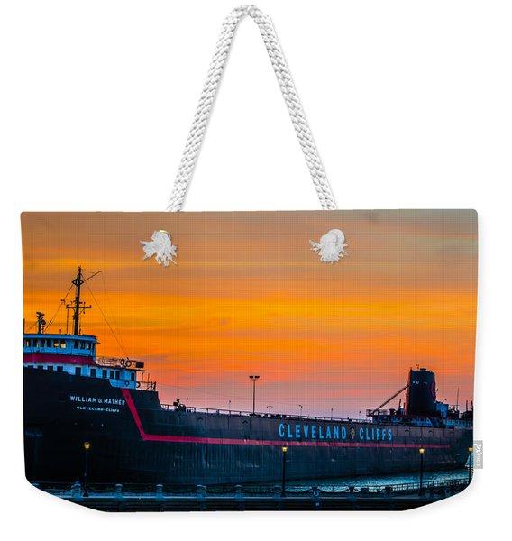 Cleveland Sunset Weekender Tote Bag