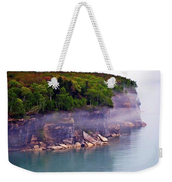 Cliff Fog Weekender Tote Bag