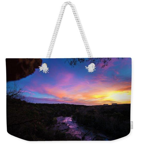 Cliff View Weekender Tote Bag