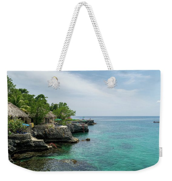 The Cliffs Of Negril Weekender Tote Bag