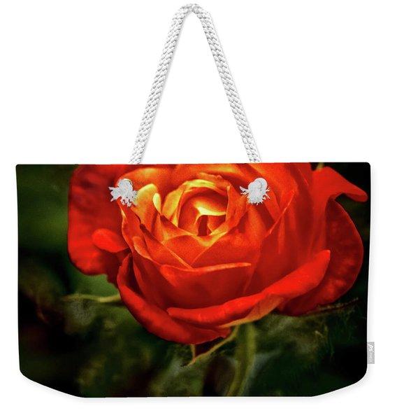 Climbing Rose Weekender Tote Bag