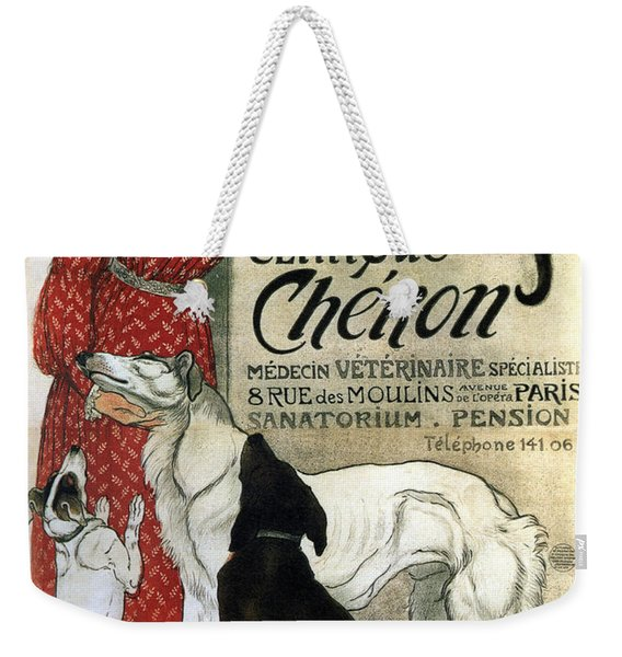 Clinique Cheron - Vintage Clinic Advertising Poster Weekender Tote Bag