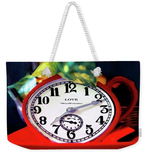 Clock In The Garden Painting 3 Weekender Tote Bag