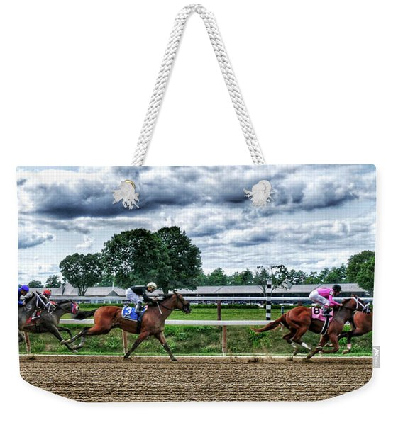 Close Competition Weekender Tote Bag