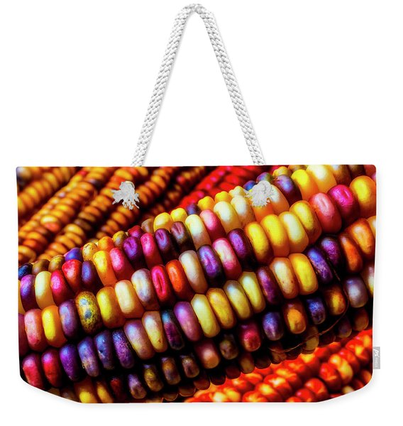 Close Up Indian Corn Weekender Tote Bag