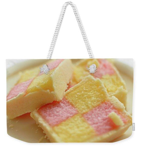 Close Up Of Battenberg Cake E Weekender Tote Bag