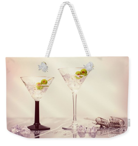 Close Up Of Martini Cocktails Weekender Tote Bag