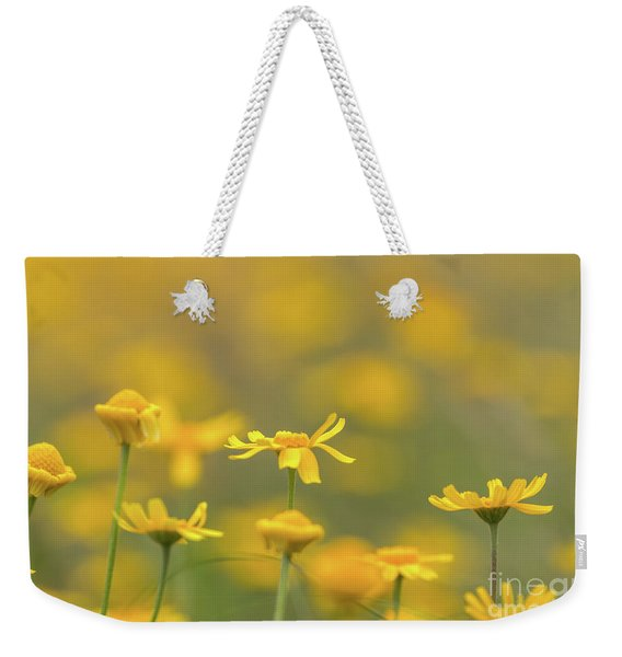 Close Up Of Yellow Flower With Blur Background Weekender Tote Bag