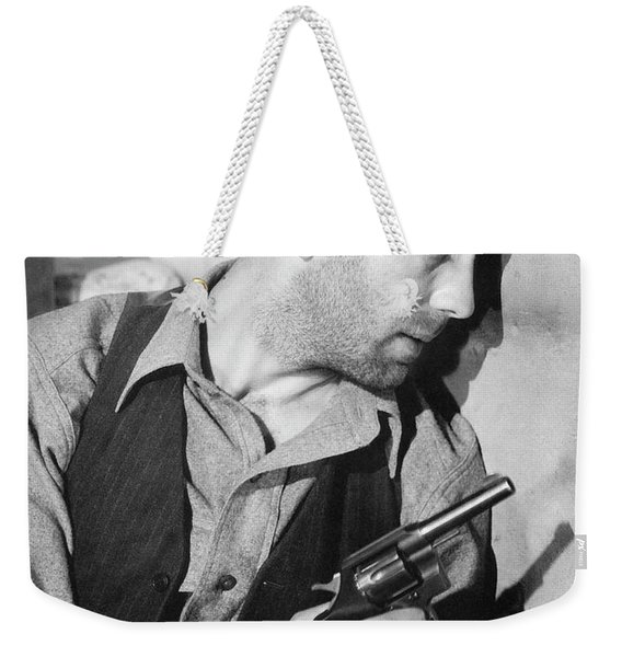 Close-up Up Of Humphrey Bogart As Duke Mantee With Gun The Petrified Forest 1936 Weekender Tote Bag