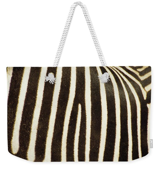 Close View Of A Zebras Stripes Weekender Tote Bag