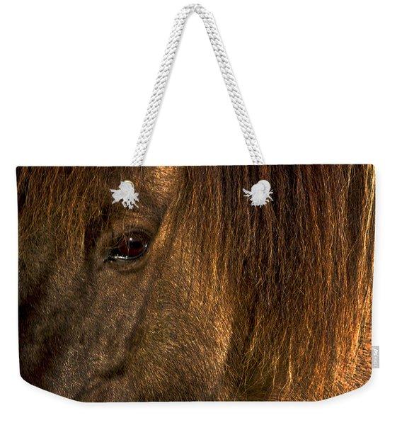 Closeup Of An Icelandic Horse #2 Weekender Tote Bag