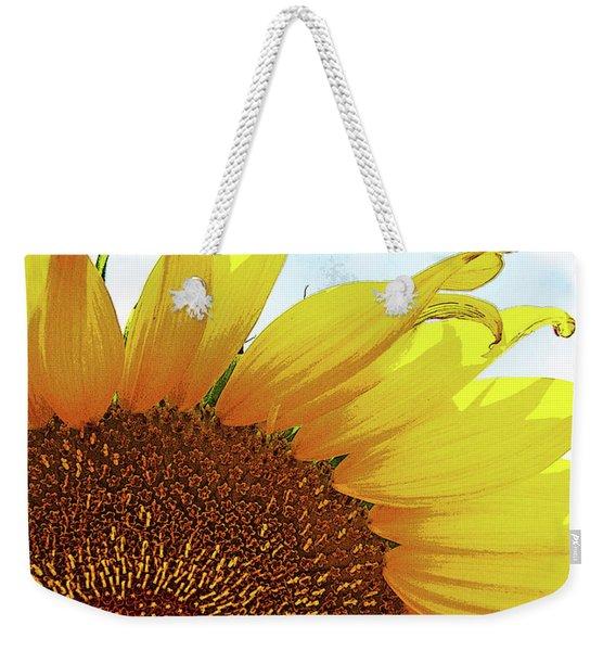 Closeup Poster Sunflower Weekender Tote Bag