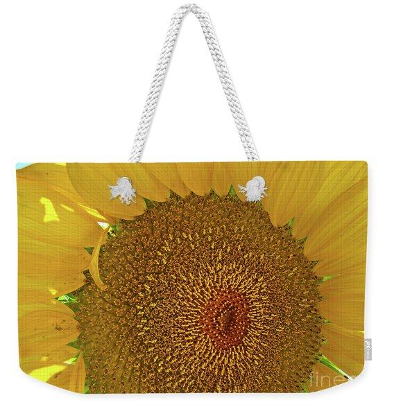 Closeup Sunflower Weekender Tote Bag
