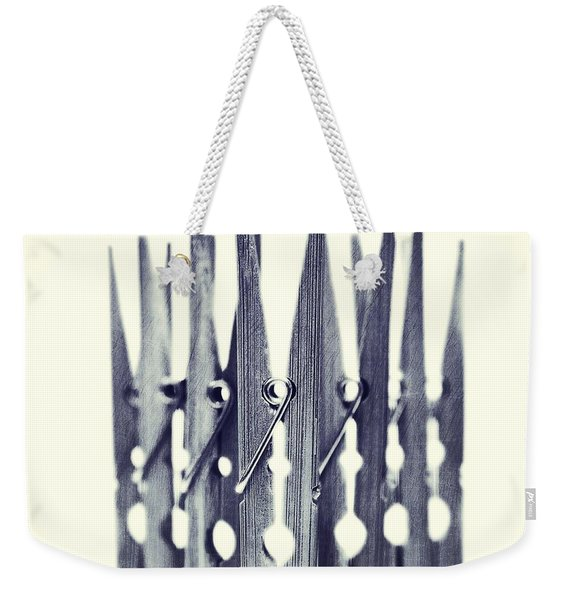Clothespin Weekender Tote Bag