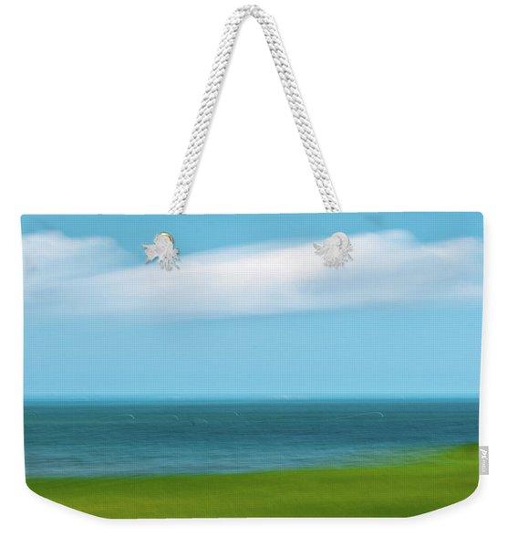 Cloud Bank 3 Weekender Tote Bag