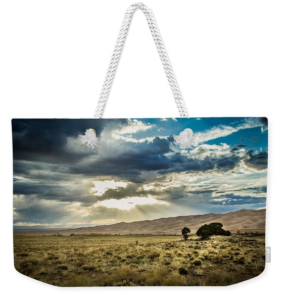Cloud Break Over Sand Dunes Weekender Tote Bag