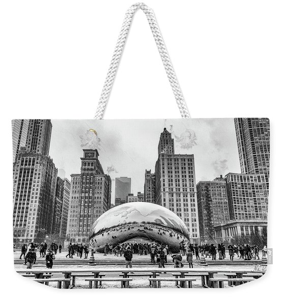 Cloud Gate Bw Weekender Tote Bag