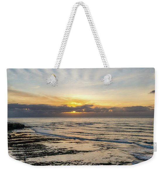 Cloud Rays Vertical Weekender Tote Bag