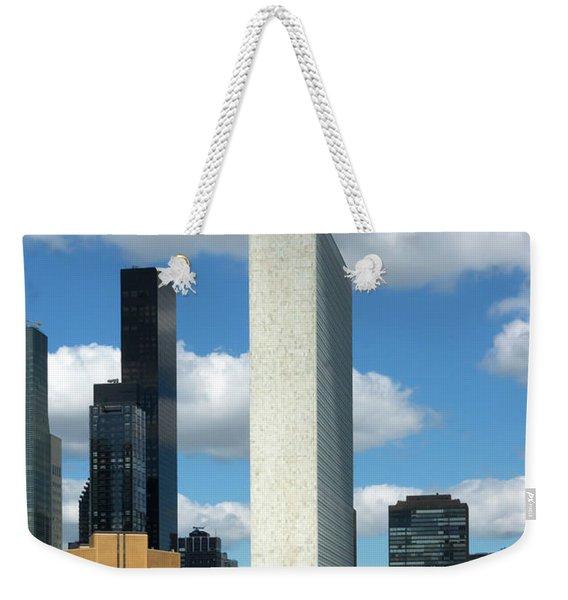 Cloud Scraper Weekender Tote Bag