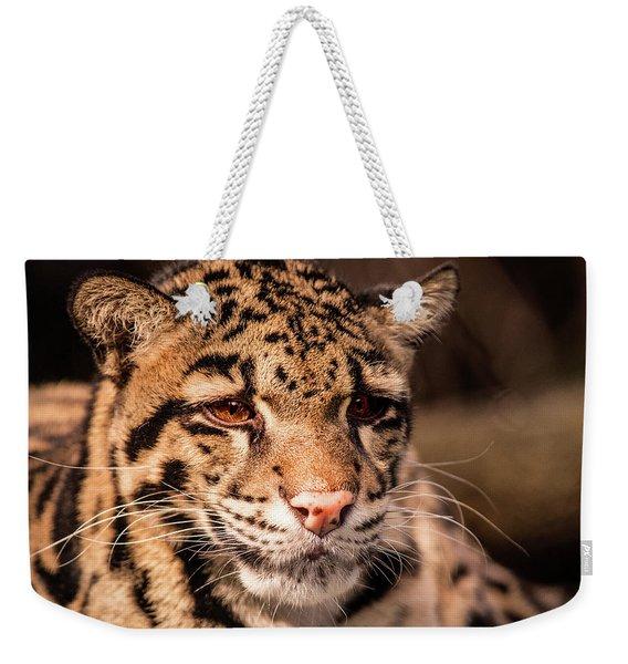 Clouded Leopard II Weekender Tote Bag