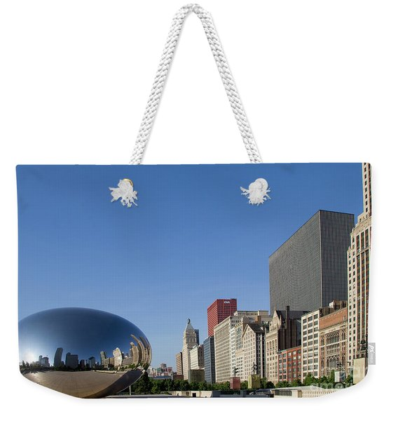 Cloudgate Reflects Michigan Avenue  Weekender Tote Bag