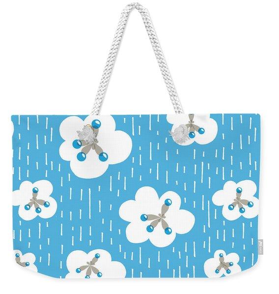 Clouds And Methane Molecules Pattern Weekender Tote Bag
