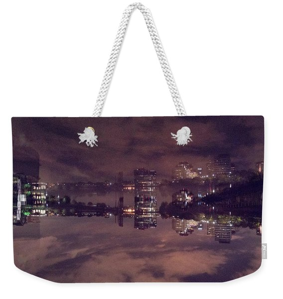 Clouds In The Passaic - Newark Nj Weekender Tote Bag