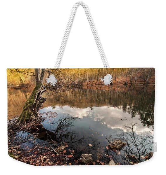 Clouds On The Lake Weekender Tote Bag