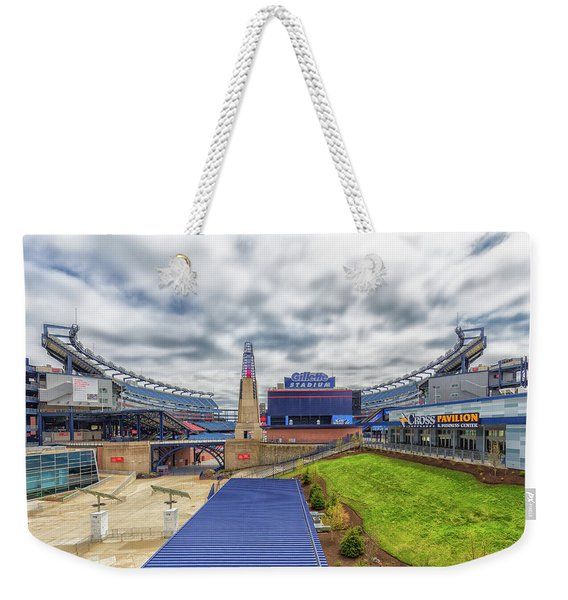 Clouds Over Gillette Stadium Weekender Tote Bag