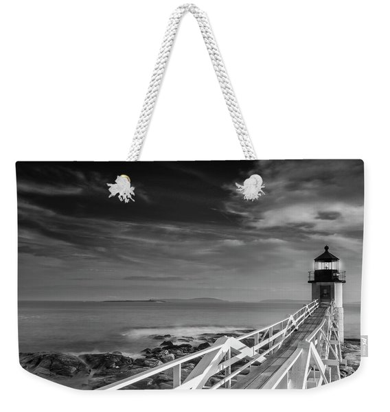 Clouds Over Marshall Point Lighthouse In Maine Weekender Tote Bag