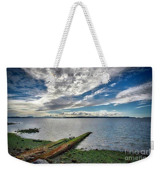 Clouds Over The Bay Weekender Tote Bag