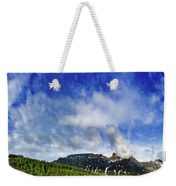 Weekender Tote Bag featuring the photograph Clouds Over The Tops by Dmytro Korol