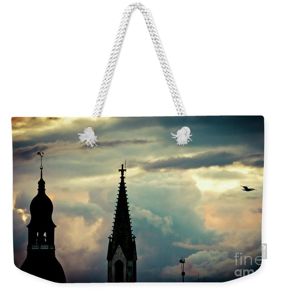 Cloudscape Sunset Old Town Riga Latvia Weekender Tote Bag