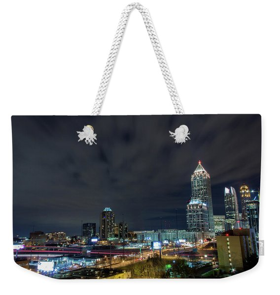 Cloudy City Weekender Tote Bag