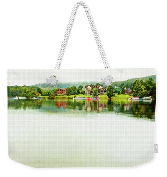Cloudy Day On The Lake Weekender Tote Bag