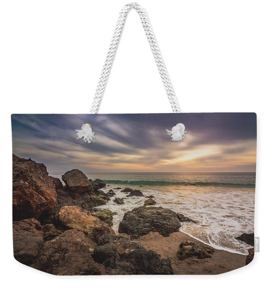 Cloudy Point Dume Sunset Weekender Tote Bag
