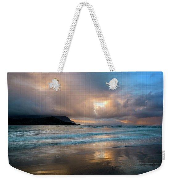 Cloudy Sunset At Hanalei Bay Weekender Tote Bag