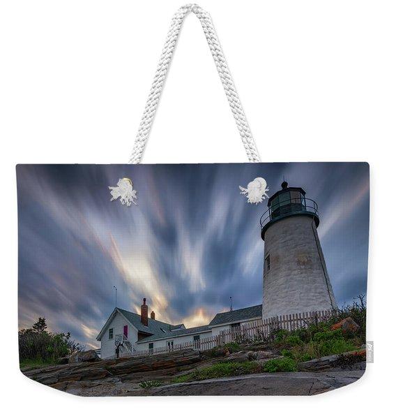 Cloudy Sunset At Pemaquid Point Weekender Tote Bag