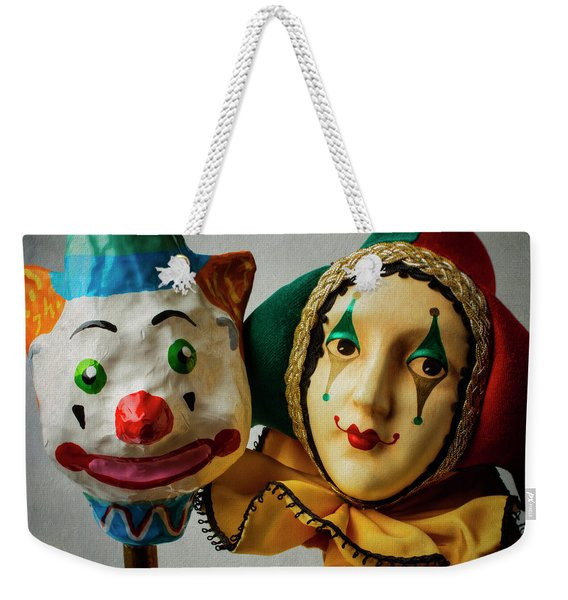 Clown And Jester Weekender Tote Bag