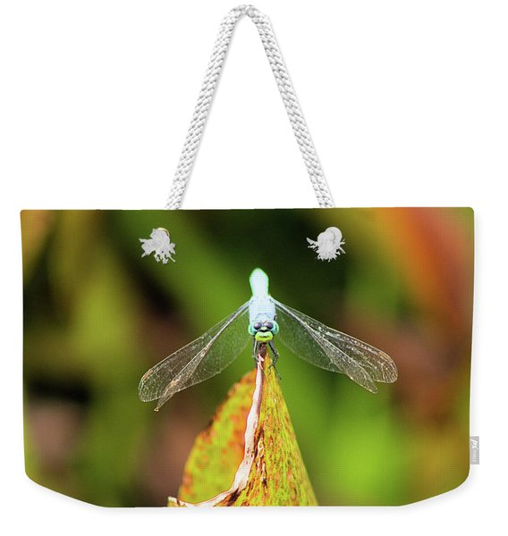 Clown Face Dragonfly Weekender Tote Bag