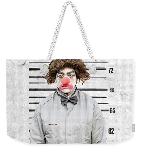Clown Mug Shot Weekender Tote Bag