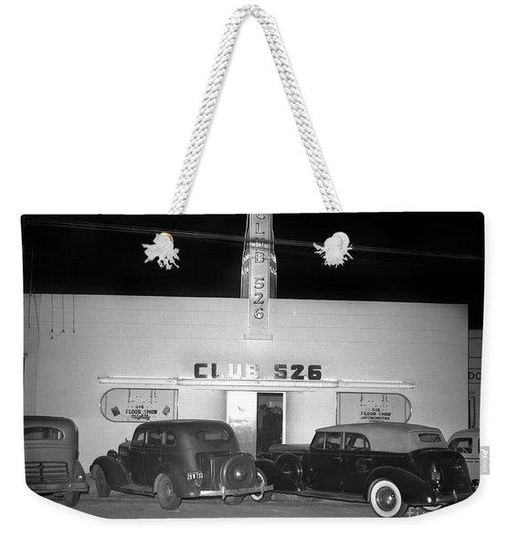 Club 526  Henry Franci, Salinas 1941 Weekender Tote Bag