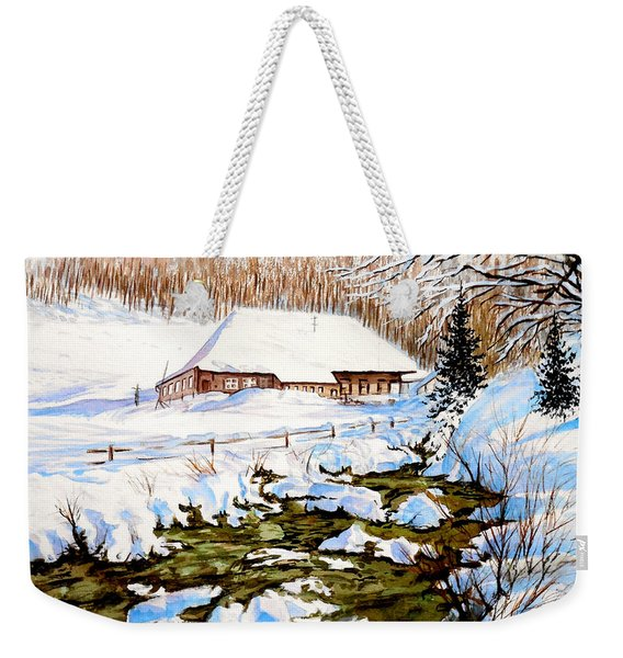 Clubhouse In Winter Weekender Tote Bag