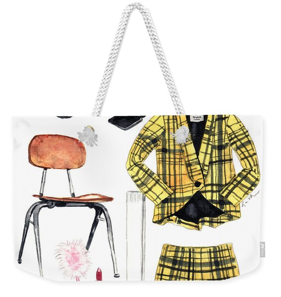 Clueless Movie Collage 90's Fashion Weekender Tote Bag
