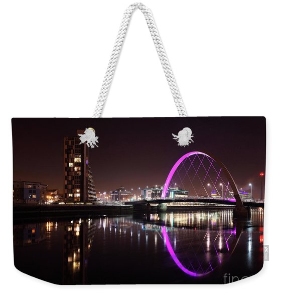 Clyde Arc Night Reflections Weekender Tote Bag